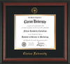 Image of Clarion University of Pennsylvania Diploma Frame - Rosewood - w/Embossed Seal & Name - Black on Gold mat