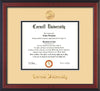 Image of Cornell University Diploma Frame - Cherry Reverse - w/Cornell Embossed Seal & Name - Cream on Black mat
