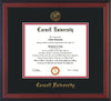 Image of Cornell University Diploma Frame - Cherry Reverse - w/Cornell Embossed Seal & Name - Black on Red mat