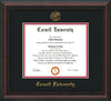 Image of Cornell University Diploma Frame - Mahogany Braid - w/Cornell Embossed Seal & Name - Black on Red mat