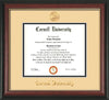 Image of Cornell University Diploma Frame - Rosewood w/Gold Lip - w/Cornell Embossed Seal & Name - Cream on Black mat