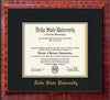 Image of Delta State University Diploma Frame - Mezzo Gloss - w/School Name Only - Black on Gold mats