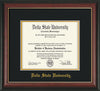 Image of Delta State University Diploma Frame - Rosewood w/Gold Lip - w/School Name Only - Black on Gold mats