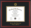 Image of Florida State University Diploma Frame - Cherry Reverse - w/Embossed FSU Seal & College of Medicine Name - Black on Gold mats