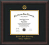 Image of Florida State University Diploma Frame - Mahogany Braid - w/Embossed FSU Seal & College of Medicine Name - Black on Gold mats