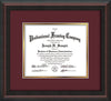 Image of Custom Mahogany Braid Art and Document Frame with Maroon on Gold Mat
