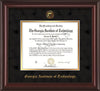 Image of Georgia Tech Diploma Frame - Mahogany Lacquer- w/Embossed Seal & Name - Black Suede on Gold mat