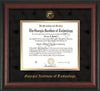 Image of Georgia Tech Diploma Frame - Rosewood - w/Embossed Seal & Name - Black Suede on Gold mat