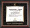 Image of Georgia Tech Diploma Frame - Rosewood w/Gold Lip - w/Embossed Seal & Name - Black Suede on Gold mat