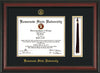 Image of Kennesaw State University Diploma Frame - Rosewood - w/KSU Embossed Seal & School Name - Tassel Holder - Black on Gold mat