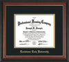 Image of Louisiana Tech University Diploma Frame - Rosewood w/Gold Lip - w/Laser Etched School Name Only - Black on Gold mat