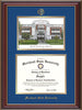 Image of Morehead State Univerity Diploma Frame - Cherry Lacquer - w/Embossed MSU Seal & Name - Watercolor - Royal Blue on Gold mat