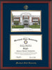 Image of Morehead State Univerity Diploma Frame - Cherry Reverse - w/Embossed MSU Seal & Name - Watercolor - Navy on Gold mat