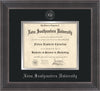 Image of Nova Southeastern University Diploma Frame - Metro Antique Pewter Double - w/Silver Embossed NSU Seal & Name - Black on Silver mat