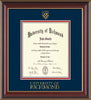 Image of University of Richmond Diploma Frame - Cherry Lacquer - w/Embossed Seal & Wordmark - Navy on Red mats - LAW