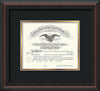 Image of Saint Joseph's University Diploma Frame - Mahogany Braid - No Embossing - Black on Gold mat