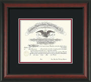 Image of Saint Joseph's University Diploma Frame - Rosewood - No Embossing - Black on Crimson mat