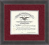 Image of Saint Joseph's University Diploma Frame - Metro Antique Pewter Double - No Embossing - Crimson Suede on Silver mat