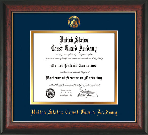 united states coast guard academy official diploma frames view all