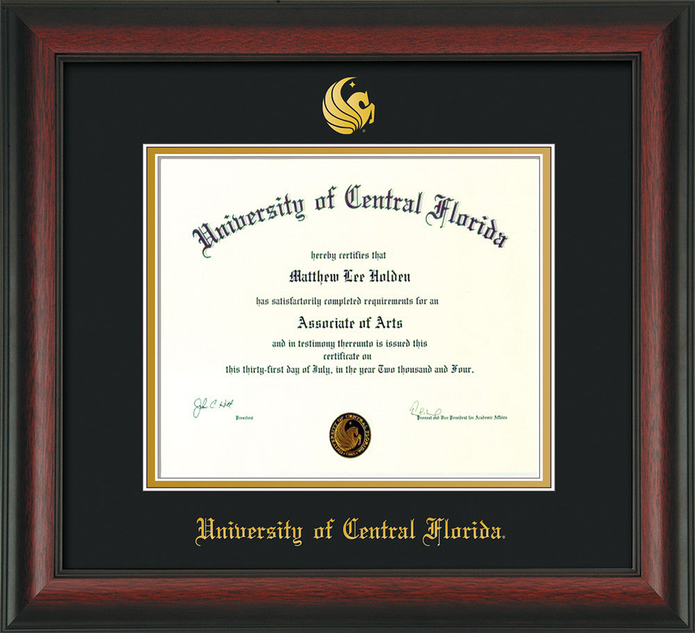 University Of Central Florida Diploma Frame Rosewood Seal