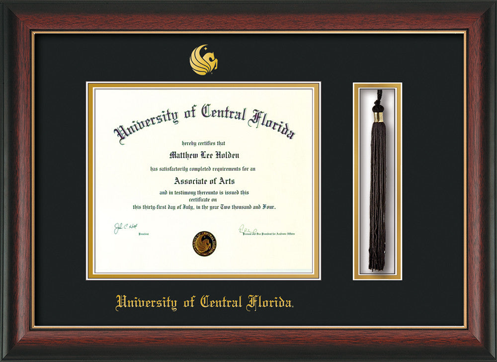 Univ Of Central Florida Diploma Frame Rose Gold Lip Tassel Black