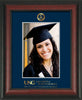 Image of University of North Georgia 5 x 7 Photo Frame - Rosewood - w/Official Embossing of Military Seal & Military Wordmark - Single Navy mat