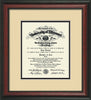 Image of University of Missouri Diploma Frame - Rosewood - w/No Embossing - Cream on Black mat