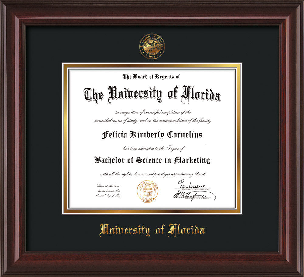 Image Of University Florida Diploma Frame