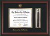 Image of University of Florida Diploma Frame - Rosewood - w/Embossed Seal & Name - Tassel Holder - Black on Gold mat
