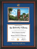 Image of University of Florida Diploma Frame - Rosewood - w/Embossed Seal & Name - Watercolor - Royal Blue on Orange mat