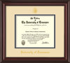 Image of University of Tennessee Diploma Frame - Mahogany Lacquer - w/Embossed UTK Seal & Name - Cream on Black Mat