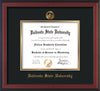 Image of Valdosta State University Diploma Frame - Cherry Reverse - w/Embossed Seal & Name - Black on Gold mats