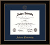 Image of Auburn University Diploma Frame - Black Lacquer - w/Embossed Seal & Name - Single Navy Mat