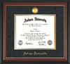 Image of Auburn University Diploma Frame - Rosewood w/Gold Lip - w/24k Gold-plated Medallion - Black Suede on Gold mat