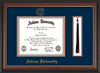 Image of Auburn University Diploma Frame - Rosewood w/Gold Lip - w/Embossed Seal & Name - Tassel Holder - Navy on Orange mat
