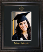 Image of Auburn University 5 x 7 Photo Frame - Vintage Black Scoop - w/Official Embossing of AU Seal & Name - Single Black mat