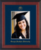Image of Georgia Southern 5 x 7 Photo Frame - Cherry Reverse - w/Official Embossing of GSOU Seal & Name - Single Navy mat