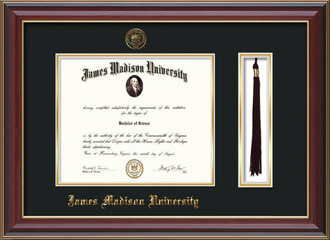 James Madison U Diploma Frame Cher Reverse Tassel