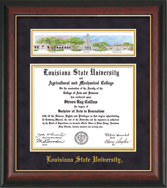 Louisiana State U Diploma Frame Rose Gold L Collage