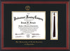 Image of University of North Carolina Charlotte Diploma Frame - Cherry Reverse - w/Official Embossing of UNCC Seal & Name - Tassel Holder - Black on Gold mats