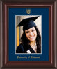 Image of University of Richmond 5 x 7 Photo Frame - Mahogany Lacquer - w/Official Embossing of UR Seal & Name - Single Navy mat