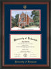 Image of University of Richmond Diploma Frame - Rosewood - w/Embossed Seal & Name - Watercolor - Navy on Red mats