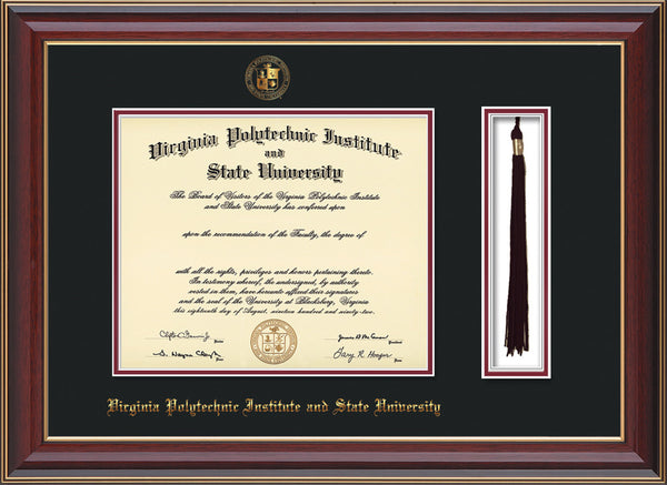 Virginia tech diploma frames college diploma frames official seal tassel holder solutioingenieria Image collections