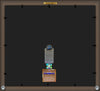 Back View of University of North Carolina Charlotte Diploma Frame - Mahogany Braid - w/Official Embossing of UNCC Seal & Name - Black on Gold mats