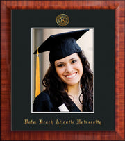 Image of Palm Beach Atlantic University 5 x 7 Photo Frame - Mezzo Gloss - w/Official Embossing of PBA Seal & Name - Single Black mat