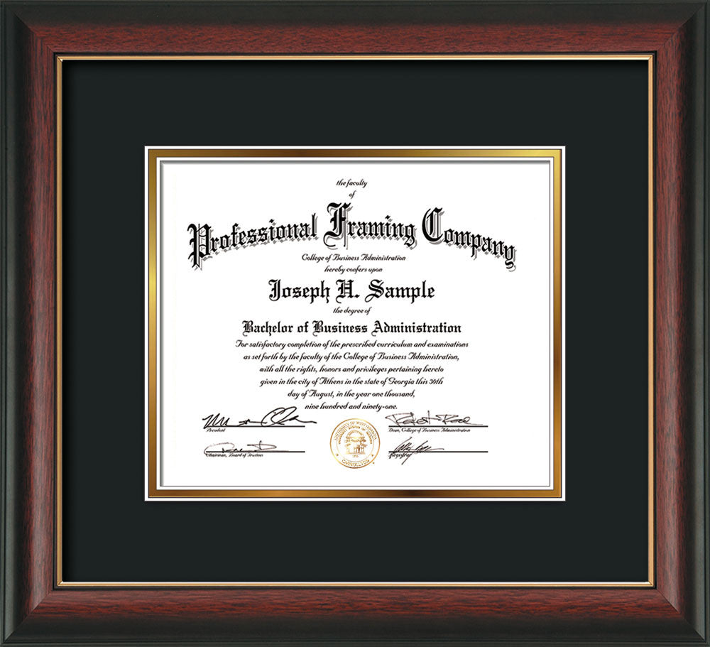 Cpa Acounting Embossing On Custom Certificate And Diploma Frames