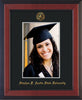 Image of Stephen F. Austin State University 5 x 7 Photo Frame - Cherry Reverse - w/Official Embossing of SFA Seal & Name - Single Black mat