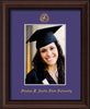 Image of Stephen F. Austin State University 5 x 7 Photo Frame - Mahogany Bead - w/Official Embossing of SFA Seal & Name - Single Purple mat