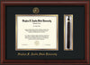 Image of Stephen F. Austin State University Diploma Frame - Mahogany Bead - w/Embossed Seal & Name - Tassel Holder - Black on Gold mat
