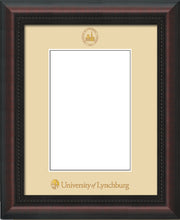 Image of University of Lynchburg 5 x 7 Photo Frame - Mahogany Braid - w/Official Embossing of UL Seal & Name - Single Cream mat